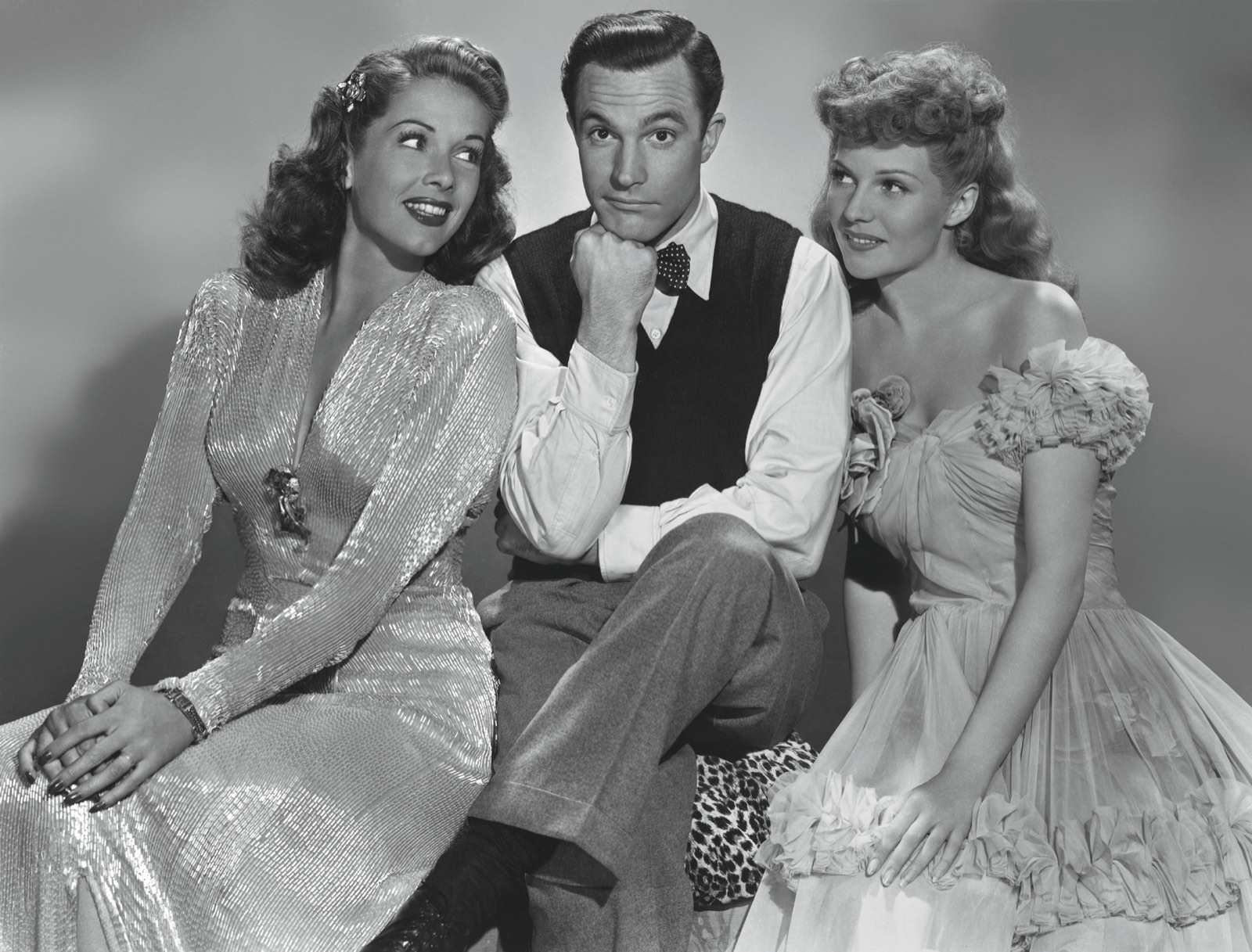 Gene Kelly, Rita Hayworth, and Eve Arden in Cover Girl