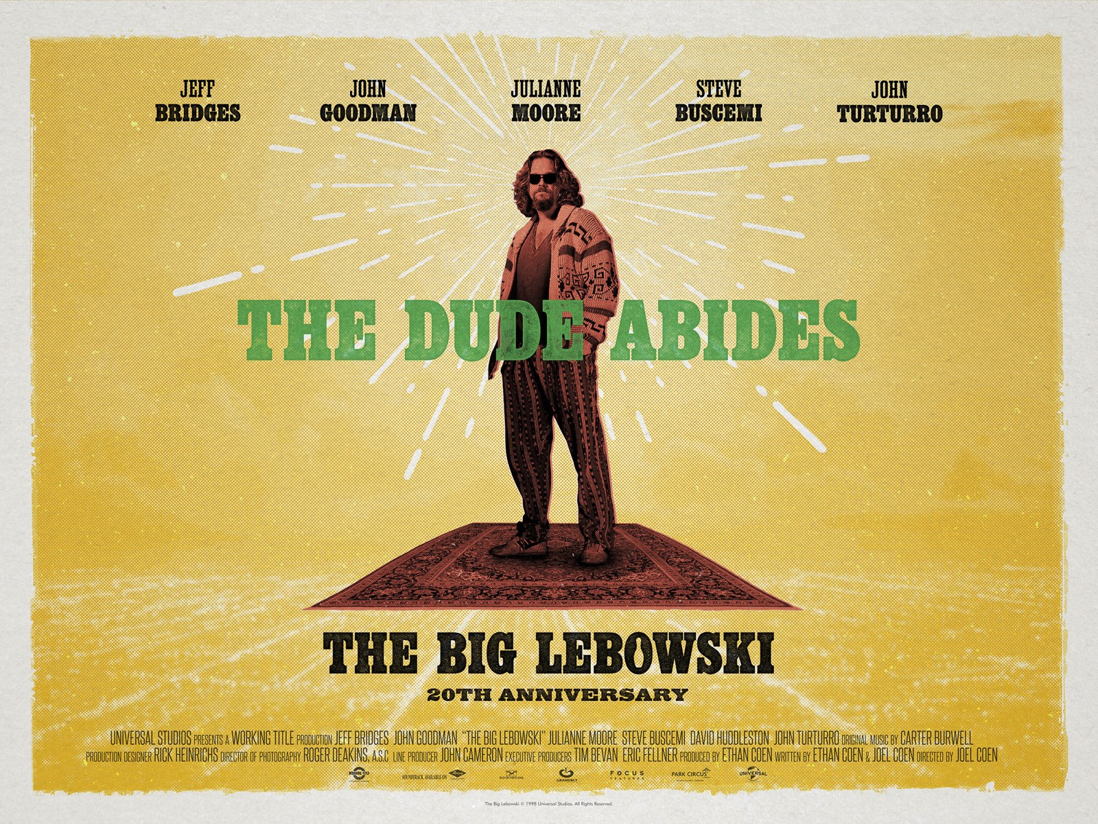 The Big Lebowski re-release poster